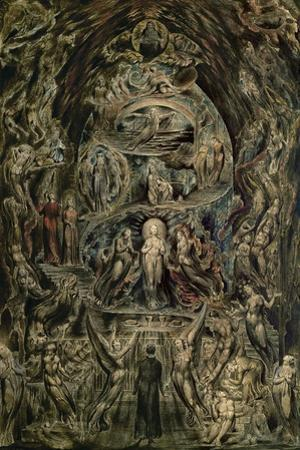 """Epitome of James Hearvey's """"Meditation among the tombs"""". (1820-1825) Paper,43.2 x 29.2 cm by William Blake"""