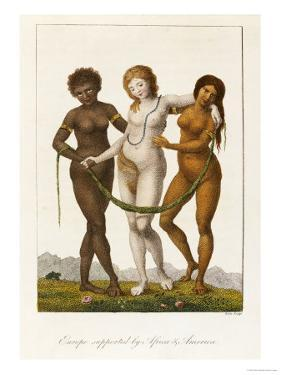 Europe Supported by Africa and America, circa 1796 by William Blake