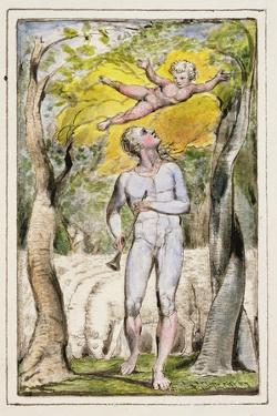 Frontispiece to Songs of Innocence: Plate 1 from Songs of Innocence and of Experience C.1802-08 by William Blake