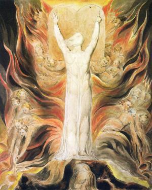 God Writing the Commandments Boards by William Blake