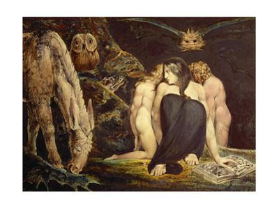Hecate. 43.8 x 58.1 cm (ca. 1795) Cat. N 5056. by William Blake