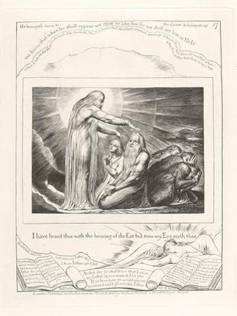 I Have Heard Thee with the Hearing of the Ear But Now My Eye Seeth Thee, 1825 by William Blake
