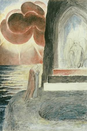 Illustrations to Dante's 'Divine Comedy', Dante and Virgil Approaching the Angel by William Blake
