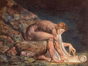 Isaak Newton, 1795 by William Blake