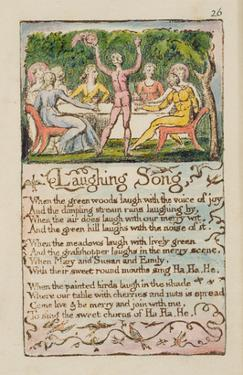 Laughing Song', Plate 26 from 'Songs of Innocence and of Experience' [Bentley 15] C.1789-94 by William Blake