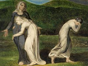 Naomi Entreating Ruth and Orpah to Return to the Land of Moab by William Blake