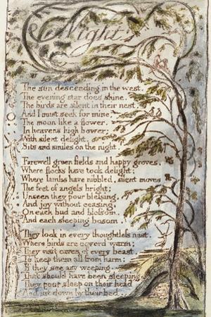 Night, 1789 by William Blake