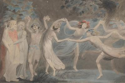 Oberon, Titania and Puck with Fairies Dancing by William Blake