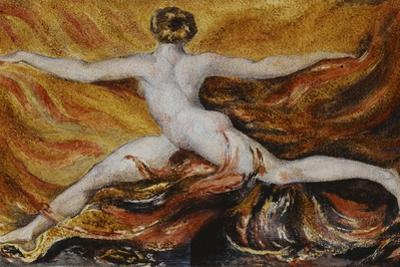 Oh! Flames of Furious Desires: Plate 3 of Urizen, 1796 by William Blake