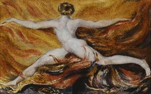 Oh! Flames of Furious Desires: Plate 3 of Urizen by William Blake