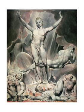 Satan Arousing the Rebel Angels, 1808 by William Blake