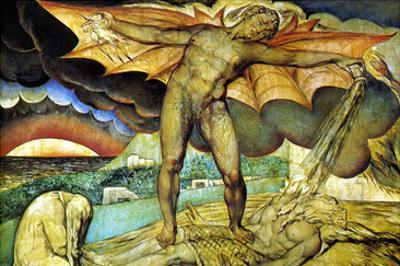 Satan Smiting Job with Sore Boils by William Blake