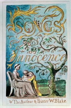 Songs of Innocence, Title Page, 1789 by William Blake
