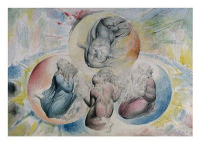 St. Peter, St. James, Beatrice and Dante from 'The Divine Comedy' by Dante Alighieri by William Blake
