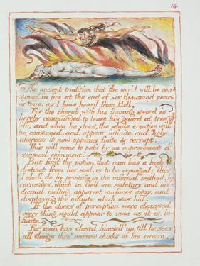 """""""The Ancient Tradition.., Illustration and Text from 'The Marriage of Heaven and Hell"""", C.1790-3 by William Blake"""