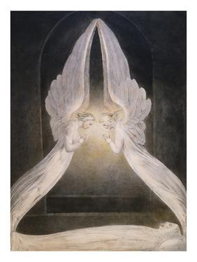 The Angels Hovering Over the Body of Jesus in the Sepulchre by William Blake