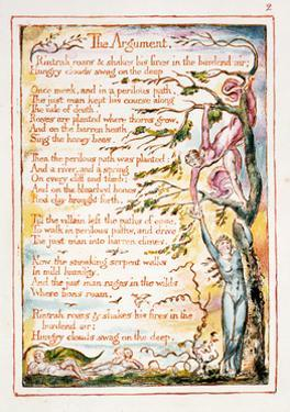 The Argument, Illustration and Text from 'The Marriage of Heaven and Hell', C.1790-3 by William Blake