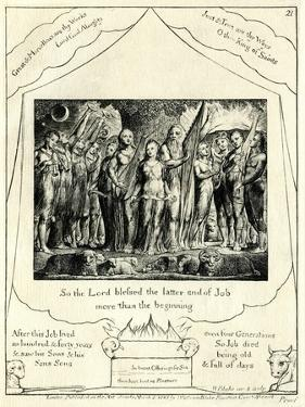 The Book of Job 42:12 illustrated by William Blake by William Blake
