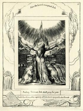 The Book of Job42:8 illustrated by william Blake by William Blake