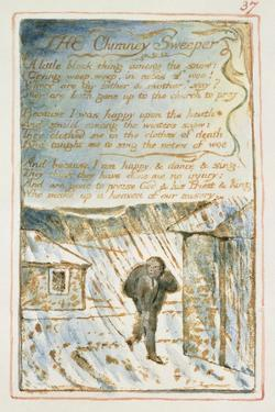 The Chimney Sweeper: Plate 37 from Songs of Innocence and of Experience C.1815-26 by William Blake