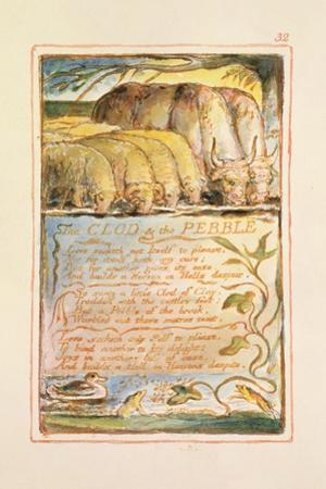 The Clod and the Pebble: Plate 32 from Songs of Innocence and of Experience C.1815-26 by William Blake
