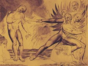 The Demons Tormenting Ceampolo by William Blake by William Blake