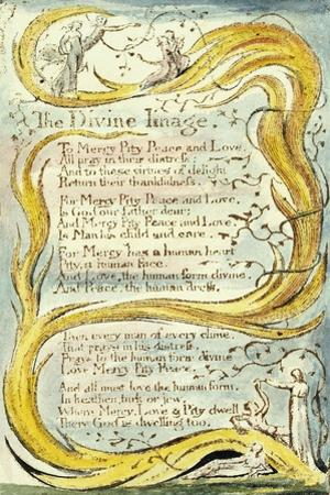 The Divine Image, 1789 by William Blake