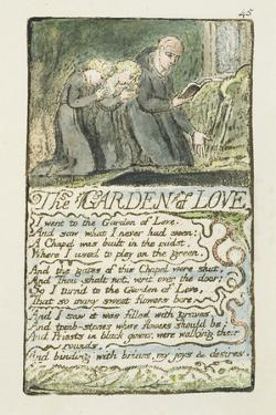 'The Garden of Love', Plate 45 from 'Songs of Innocence and of Experience', 1789-94 by William Blake