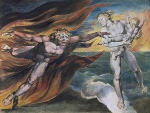 The Good and Evil Angels by William Blake