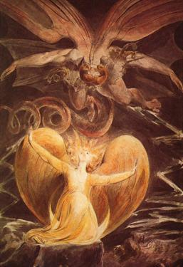 William Blake (The great red dragon and the woman clothed with the sun) Art Poster Print