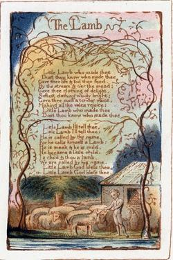 The Lamb, Illustration from 'Songs of Innocence and of Experience', C1770-1820 by William Blake