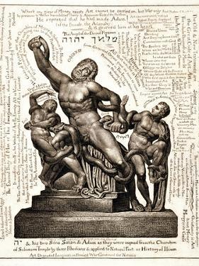 The Laocoon as Jehovah with Satan and Adam, C.1820 by William Blake