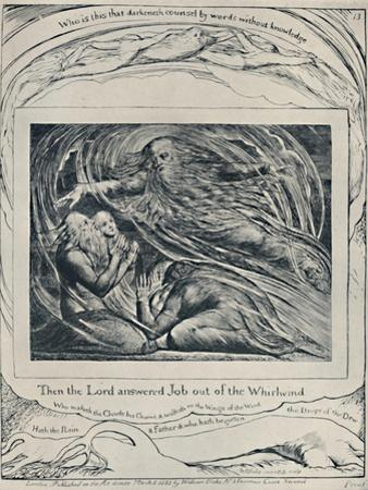 The Lord Answering Job Out of the Whirlwind. From 'Job.', c1780-1820, (1923) by William Blake