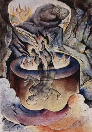 William Blake (The Pope simonistische) Art Poster Print