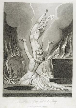 The Reunion of the Soul and the Body, Pl.13 by William Blake