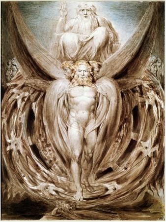 The Whirlwind: Ezekiel's Vision by William Blake