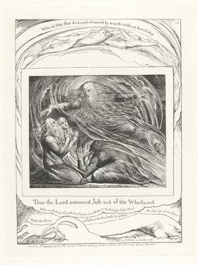 Then the Lord Answered Job Out of the Whirlwind, 1825 by William Blake