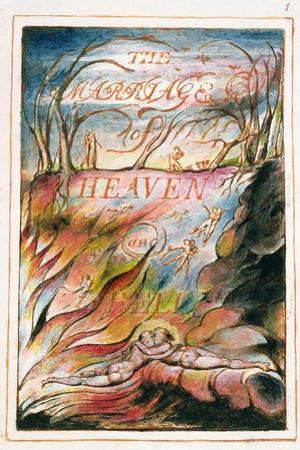 Title Page to 'The Marriage of Heaven and Hell', 1790-3 by William Blake