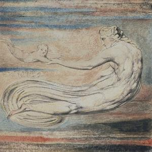 Urizen, Plate 2 of Urizen: Teach These Souls to Fly by William Blake