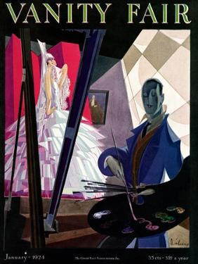 Vanity Fair Cover - January 1924 by William Bolin