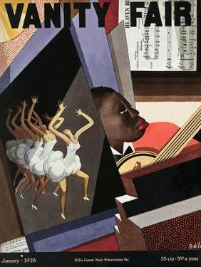 Vanity Fair Cover - January 1928 by William Bolin