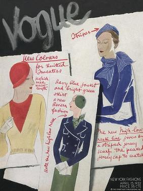 Vogue Cover - April 1932 by William Bolin
