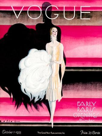 Vogue Cover - October 1925 - Paris Revue by William Bolin