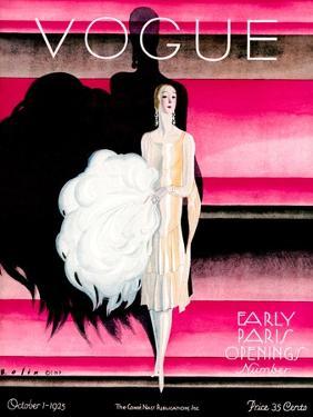 Vogue Cover - October 1925 - Paris Revue by William Bolin