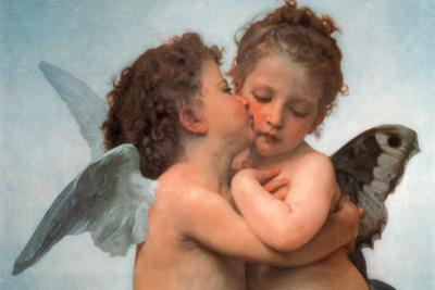 William Bouguereau Le Premier Baiser The First Kiss Art Print Poster