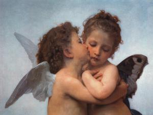 William Bouguereau - The First Kiss, Art Poster Print