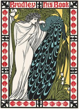 The Kiss - Bradley: His Book - Woman with Peacock - Art Nouveau Poster by William Bradley