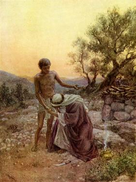 Abraham and Isaac at Mount Moriah - Bible by William Brassey Hole