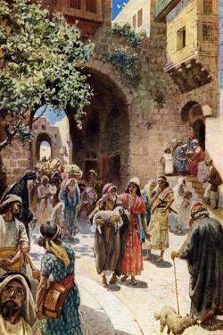 Absalom steals the hearts of the people - Bible by William Brassey Hole