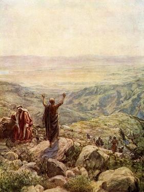 Balaam blessing the camp of Israel - Bible by William Brassey Hole
